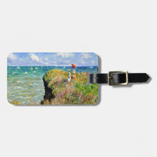 Claude Monet Clifftop Walk Luggage Tag