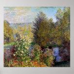Claude Monet - Corner of the Garden at Montgeron Poster