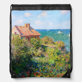 Claude Monet: Fishermans Cottage at Varengeville Drawstring Bag