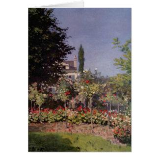 Claude Monet - Flowering Garden at Sainte-Adresse Card