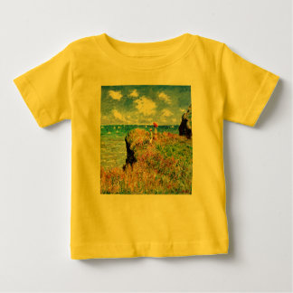 Claude Monet - French Clifftop - Impressionism Baby T-Shirt