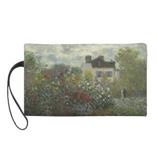 Claude Monet Garden in Argenteuil Wristlet Clutch