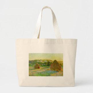 Claude Monet // Haystacks Large Tote Bag