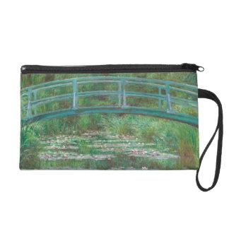 Claude Monet Japanese Bridge Vintage Art Wristlet