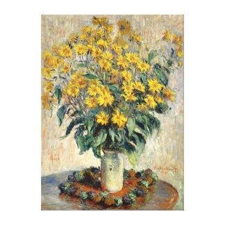Claude Monet Jerusalem Artichoke Flowers 1880 Canvas Print