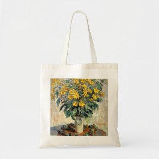 Claude Monet Jerusalem Artichoke Flowers 1880 Tote Bag