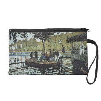 Claude Monet   La Grenouillere Wristlet Clutches