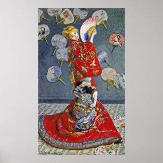 Claude Monet - La Japonaise Poster