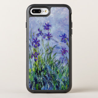 Claude Monet Lilac Irises Vintage Floral Blue OtterBox Symmetry iPhone 8 Plus/7 Plus Case