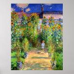 Claude Monet: Monet's Garden at Vétheuil