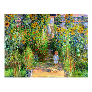 Claude Monet: Monet's Garden at Vétheuil Postcard