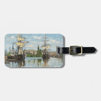 Claude Monet | Ships Riding on the Seine at Rouen Luggage Tag