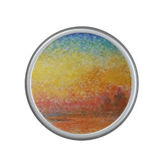 Claude Monet Sunset In Venice Impressionist Art Bluetooth Speaker
