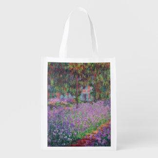 Claude Monet   The Artist's Garden at Giverny Reusable Grocery Bag