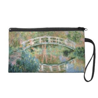 Claude Monet   The Japanese Bridge, Giverny Wristlet Clutches