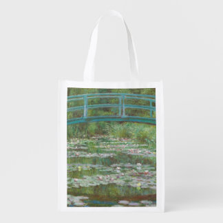 Claude Monet   The Japanese Footbridge, 1899 Reusable Grocery Bag