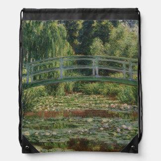 Claude Monet - The Japanese Footbridge Drawstring Bag