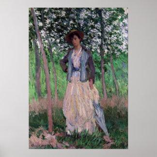 Claude Monet The Stroller Poster