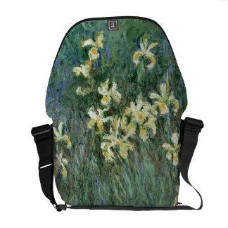 Claude Monet | The Yellow Irises Messenger Bags