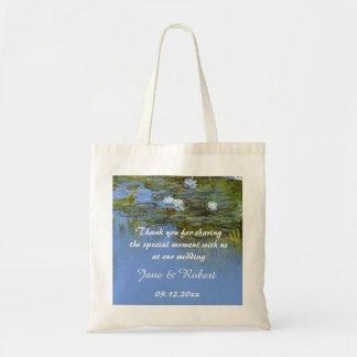 Claude Monet waterlily wedding favor than you Tote Bag