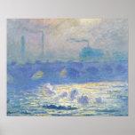 Claude Monet - Waterloo Bridge Poster