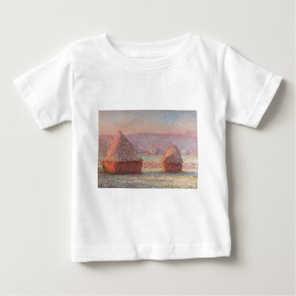 Claude Monet - White Frost Sunrise Baby T-Shirt