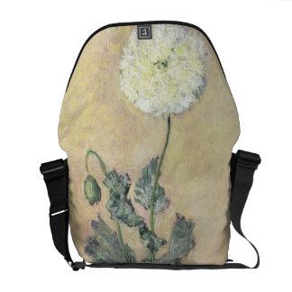 Claude Monet   White Poppy, 1883 Courier Bags