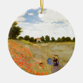 Claude Monet // Wild Poppies Christmas Ornament