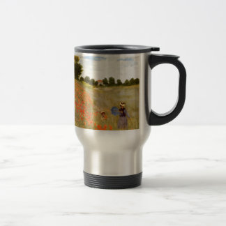 Claude Monet // Wild Poppies Travel Mug