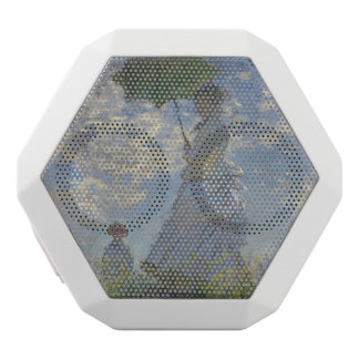 Claude Monet's Woman with a Parasol White Bluetooth Speaker