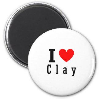 Clay, Alabama City Design 6 Cm Round Magnet