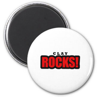 Clay, Alabama City Design 6 Cm Round Magnet