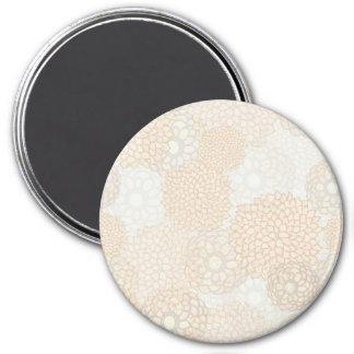Clay and Tan Flower Burst Design 7.5 Cm Round Magnet