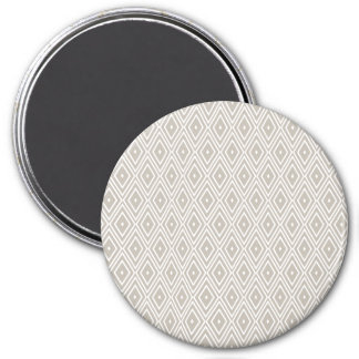 Clay and White Diamond Pattern 7.5 Cm Round Magnet