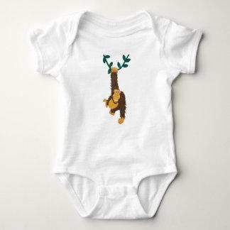 Clay-art of grinning Gorilla swinging on vine T-shirt