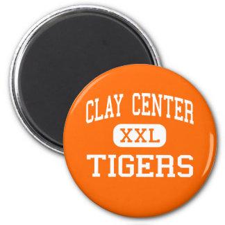 Clay Center - Tigers - High - Clay Center Kansas 6 Cm Round Magnet