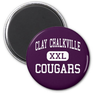 Clay Chalkville - Cougars - High - Pinson Alabama 6 Cm Round Magnet