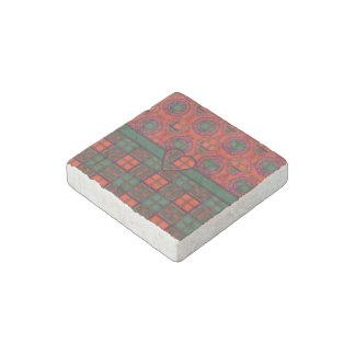 Clay clan Plaid Scottish kilt tartan Stone Magnet