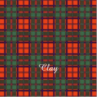 Clay clan Plaid Scottish kilt tartan Photo Sculpture Magnet