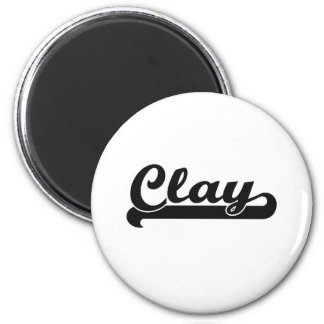 Clay Classic Retro Name Design 6 Cm Round Magnet