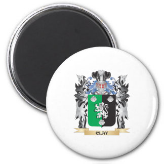 Clay Coat of Arms - Family Crest 6 Cm Round Magnet