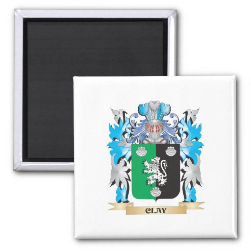 Clay Coat of Arms - Family Crest Fridge Magnets