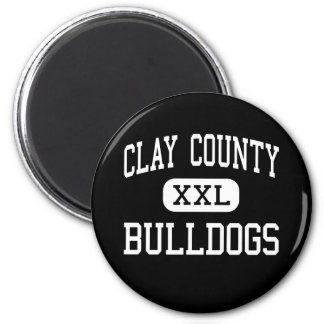 Clay County - Bulldogs - High - Celina Tennessee 6 Cm Round Magnet