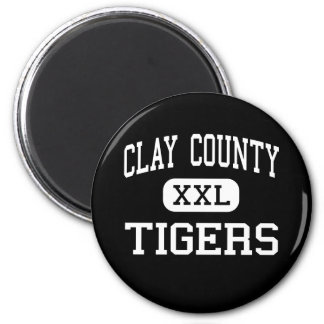 Clay County - Tigers - High - Manchester Kentucky 6 Cm Round Magnet