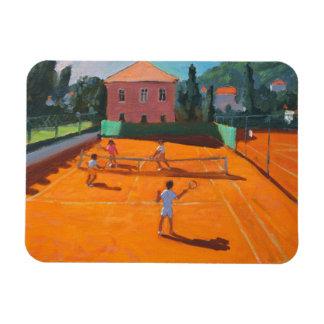 Clay Court Tennis Lapad Croatia 2012 Rectangular Photo Magnet