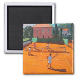 Clay Court Tennis Lapad Croatia 2012 Square Magnet