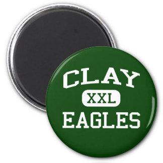 Clay - Eagles - Clay High School - Oregon Ohio 6 Cm Round Magnet