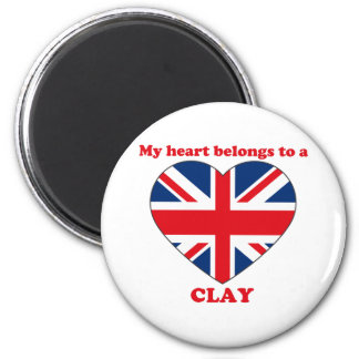 Clay 6 Cm Round Magnet