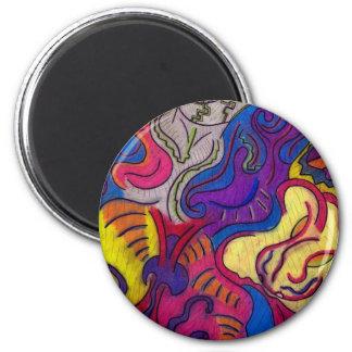 Clay Mechanics 6 Cm Round Magnet