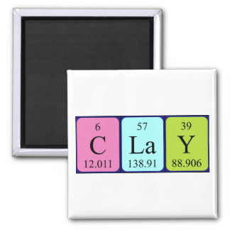 Clay periodic table name magnet